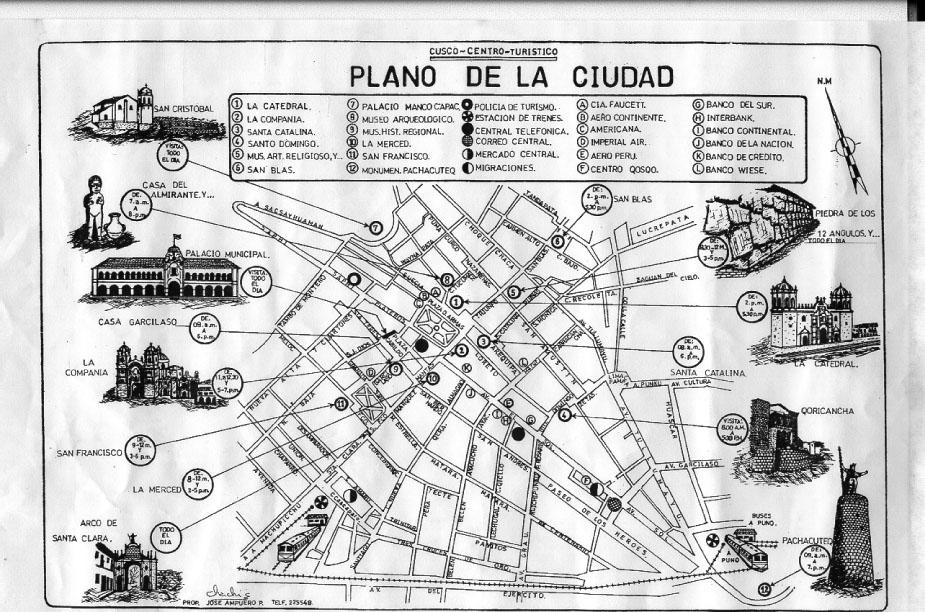 Peru 1998 map of cuzco publicscrutiny Image collections