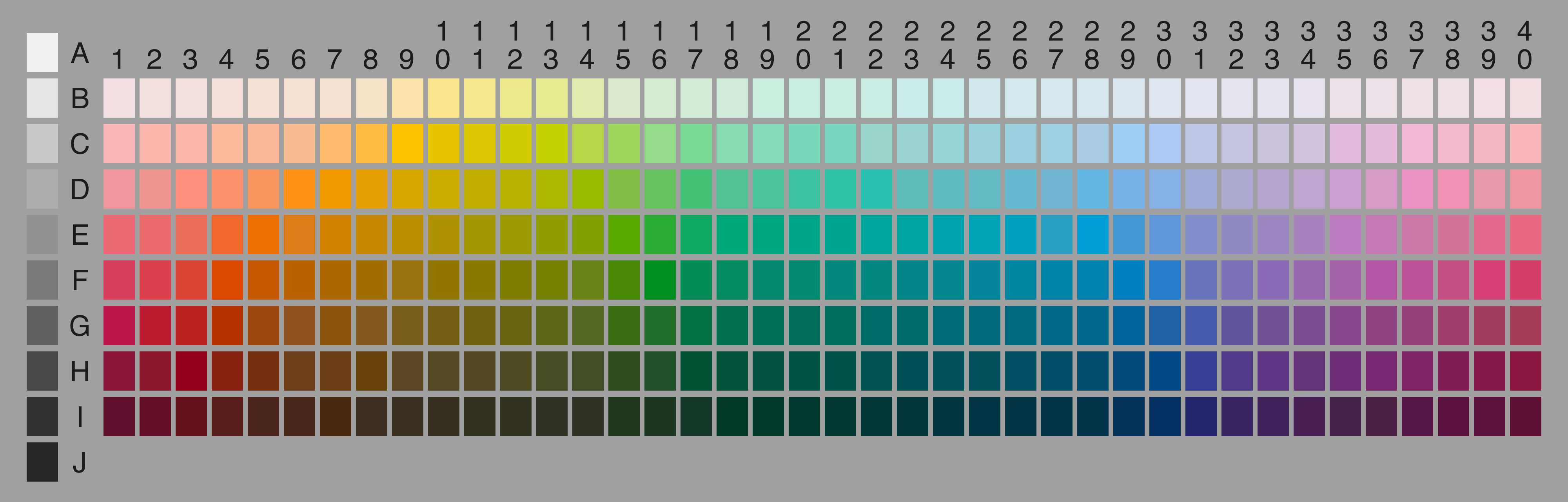 WCS Data Archives – Sample Html Color Code Chart
